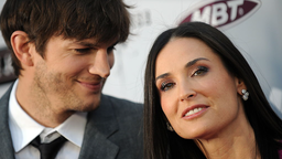 """Actors Demi Moore and Ashton Kutcher arrive at the premiere of """"The Joneses"""" in Hollywood, California, on April 8, 2010."""