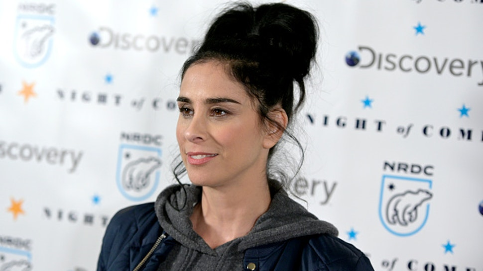 """Sarah Silverman attends NRDC's """"Night of Comedy"""" Benefit, in partnership with Discovery, Inc. hosted by Seth Meyers on April 30, 2019 in New York City."""