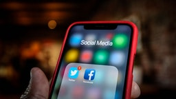 Twitter and Facebook applications are seen grouped in a Social Media folder on an iPhone in this photo illustration on March 17, 2019 in Warsaw, Poland.