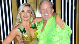 """Lindsay Arnold and Sean Spicer attend the """"Dancing With The Stars"""" Season 28 show at CBS Television City on September 16, 2019 in Los Angeles, California."""
