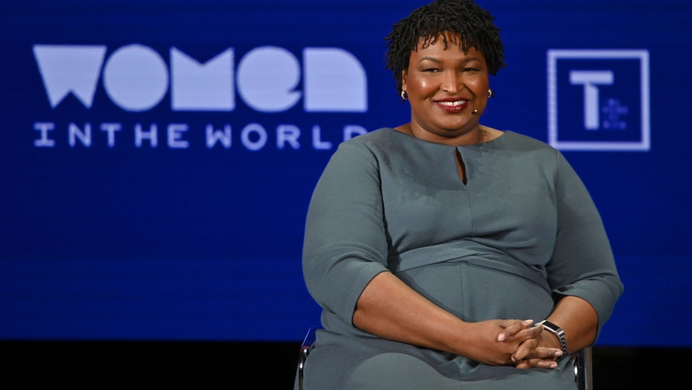 Stacey Abrams speaks onstage at the 10th Anniversary Women In The World Summit