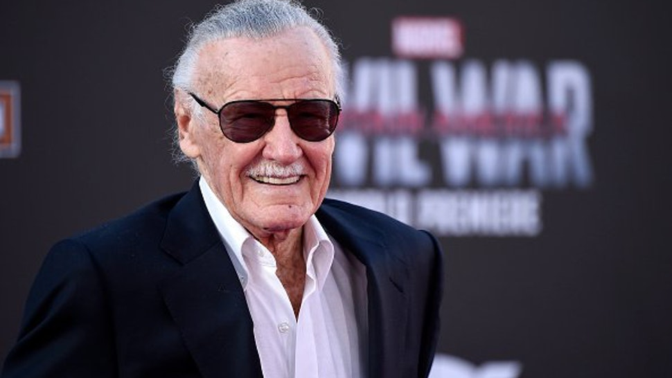 "Stan Lee attends the premiere of Marvel's ""Captain America: Civil War"" at Dolby Theatre on April 12, 2016 in Los Angeles, California."