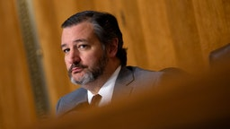 Sen. Ted Cruz listens during the nomination hearing of Kelly Craft