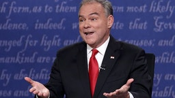 Tim Kaine Debating Mike Pence
