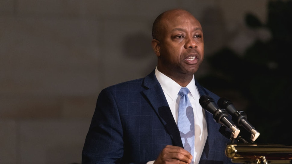 Senator Tim Scott speaks at the Commemoration of the Bicentennial of the Birth of Frederick Douglass
