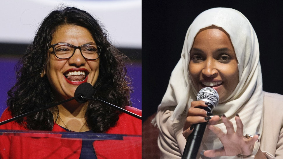 """DETROIT, MI - JULY 22: U.S. Rep. Rashida Tlaib (D-MI) speaks at the opening plenary session of the NAACP 110th National Convention at the COBO Center on July 22, 2019 in Detroit, Michigan. The convention is from July 20 to July 24 with the theme of, """"When We Fight, We Win""""."""