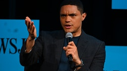 Trevor Noah speaks on stage during The Wall Street Journal's Future Of Everything Festival at Spring Studios on May 20, 2019 in New York City.