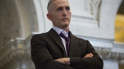 Representative Trey Gowdy, a Republican from South Carolina, listens while U.S. House Speaker Paul Ryan, a Republican from Wisconsin, not pictured, delivers a farewell address at the Library of Congress in Washington, D.C., U.S., on Wednesday, Dec. 19, 2018. Ryan may cap off his time as House speaker by shutting down part of the federal government, barring an unexpected breakthrough this week.
