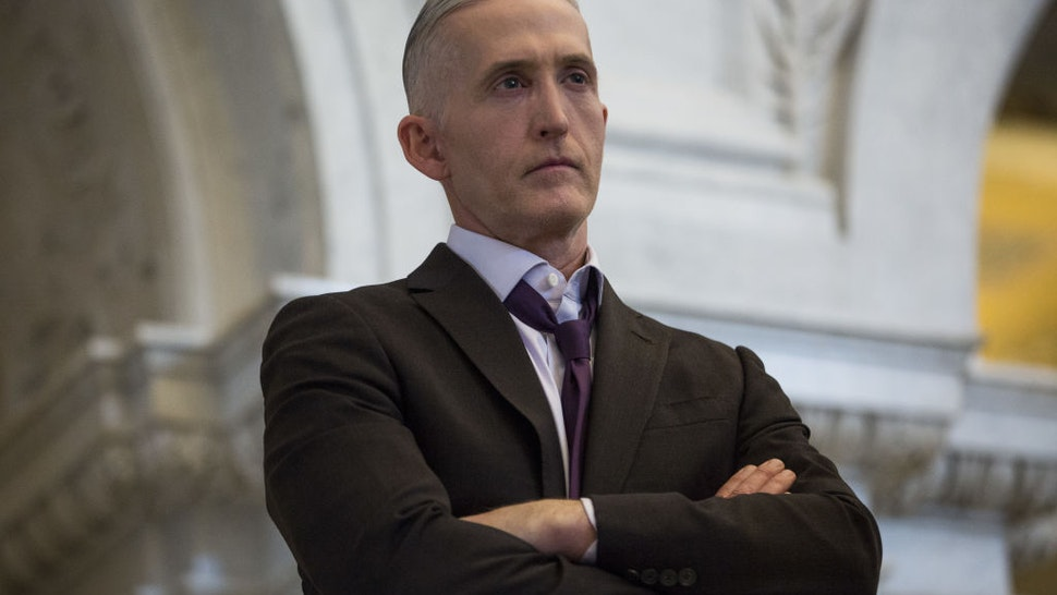 Representative Trey Gowdy, a Republican from South Carolina, listens while U.S. House Speaker Paul Ryan, a Republican from Wisconsin, not pictured, delivers a farewell address at the Library of Congress in Washington, D.C., U.S., on Wednesday, Dec. 19, 2018. Ryanmay cap off his time as House speaker by shutting down part of the federal government, barring an unexpected breakthrough this week.