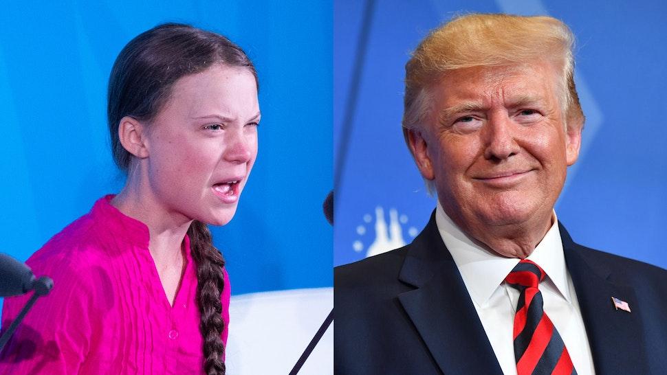 President Trump and Greta Thurnberg