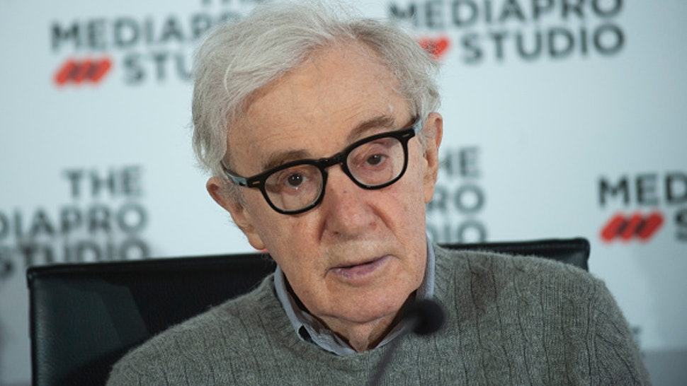American film director Woody Allen attends a Press Conference at Kursaal auditorium to talk about the new film he is filming in San Sebastian on July 09, 2019 in San Sebastian, Spain.