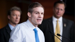 Rep. Jim Jordan, R-Ohio, speaks during the House Freedom Caucus news conference on Affordable Care Act replacement legislation on Wednesday, Feb. 15, 2017.