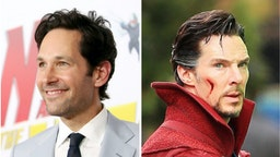 """Actor Benedict Cumberbatch is seen on the set of 'Doctor Strange' on April 2, 2016 Actor Paul Rudd attends the Los Angeles Global Premiere for Marvel Studios' """"Ant-Man And The Wasp""""..."""