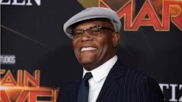 "Samuel L. Jackson attends Marvel Studios ""Captain Marvel"" Premiere on March 04, 2019 in Hollywood, California."
