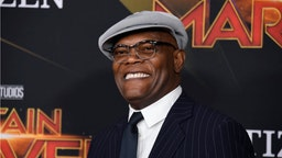 "Samuel L. Jackson attends Marvel Studios ""Captain Marvel"" Premiere on March 04, 2019 in Hollywood, California."