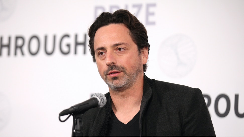 Sergey Brin attends the 2019 Breakthrough Prize at NASA Ames Research Center on November 4, 2018 in Mountain View, California.