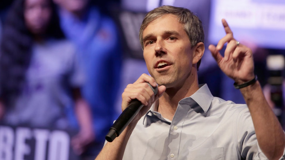 Beto O'Rourke speaks during a campaign rally on October 17, 2019 in Grand Prairie, Texas