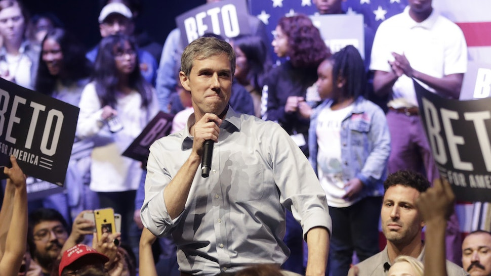 Democratic presidential candidate, former Rep. Beto O'Rourke (D-TX) speaks during a campaign rally on October 17, 2019 in Grand Prairie, Texas. O'Rourke's Rally Against Fear was held to counter President Trump's campaign rally today in Texas. (Photo by Ron Jenkins/Getty Images)