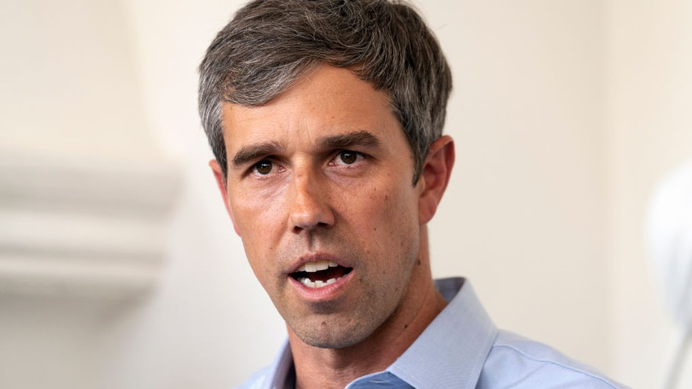 Beto O'Rourke speaks during an Equity & Justice Roundtable in Los Angele