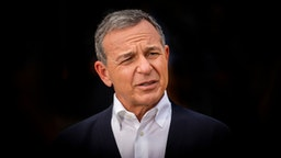 ANAHEIM, CA - MAY 29: Bob Iger, CEO of The Walt Disney Company, is interviewed by the media during the Star Wars: Galaxy's Edge Media Preview event at the Disneyland Resort in Anaheim, Calif., on May 29, 2019.
