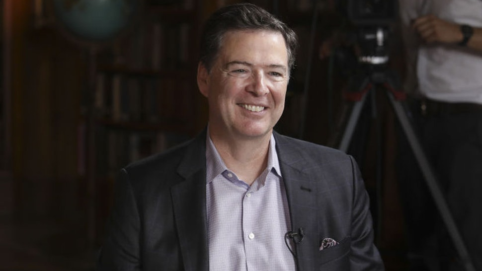 "James Comey, former director of the Federal Bureau of Investigation (FBI), reacts during a Bloomberg Television interview in Salzburg, Austria, on Friday, June 21, 2019. Comey said he hopes President Donald Trump isn't impeached because ""that would let the American people off the hook."""