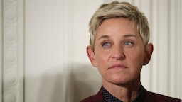 Comedian and talk show host Ellen DeGeneres listens to President Barack Obama before being awarded the Presidential Medal of Freedom during a ceremony in the East Room of the White House November 22, 2016 in Washington, DC.