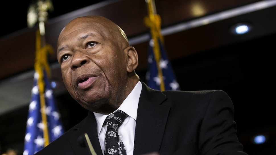 Representative Elijah Cummings, a Democrat from Maryland and chairman of the House Oversight Committee, speaks during a news conference on Capitol Hill in Washington, D.C., U.S., on Tuesday, June 11, 2019. The House voted to authorize lawsuits against Attorney GeneralWilliam Barrand former White House CounselDon McGahnas Democrats try to enforce subpoenas for documents and testimony in its investigations into PresidentDonald Trumpand his administration. Photographer: Al Drago/Bloomberg