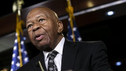 Representative Elijah Cummings, a Democrat from Maryland and chairman of the House Oversight Committee, speaks during a news conference on Capitol Hill in Washington, D.C., U.S., on Tuesday, June 11, 2019. The House voted to authorize lawsuits against Attorney General William Barr and former White House Counsel Don McGahn as Democrats try to enforce subpoenas for documents and testimony in its investigations into President Donald Trump and his administration. Photographer: Al Drago/Bloomberg