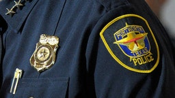 The badge of a Fort Worth Police officer