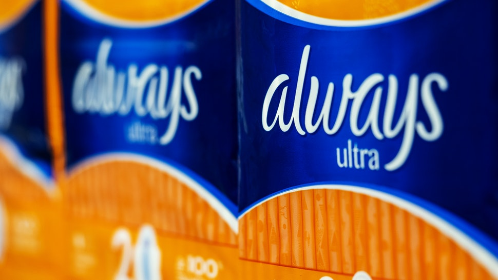 lways Ultra Pads seen in store. Always is a brand of feminine hygiene products, including maxi pads, ultra thin pads, pantiliner, and feminine wipes, produced by Procter & Gamble. (Photo by Igor Golovniov/SOPA Images/LightRocket via Getty Images)