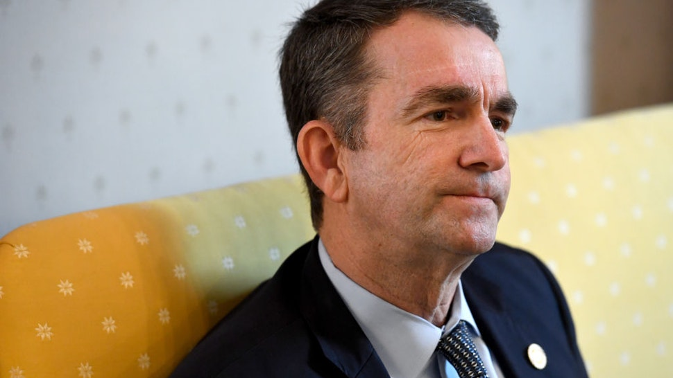 Virginia Gov. Ralph Northam talks about how he was raised during an interview in the Governor's Mansion February 09, 2019 in Richmond, VA.