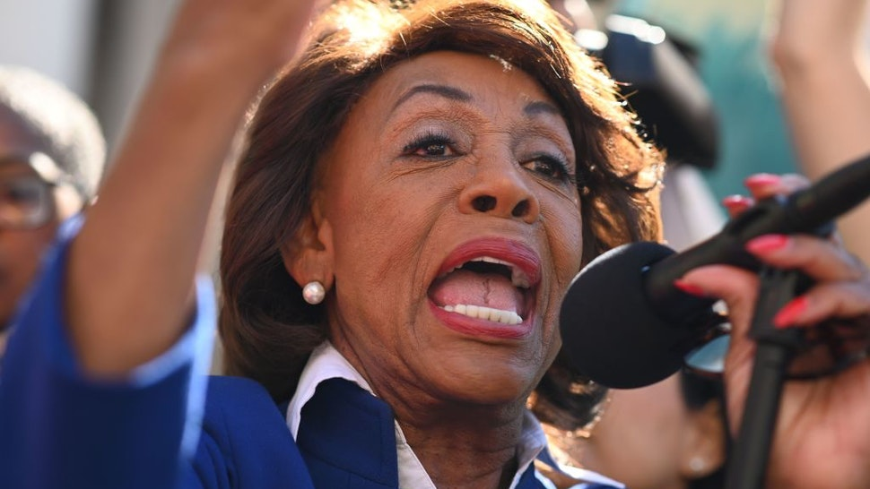 U.S. Rep. Maxine Waters (D-Calif.) speaks at a protest against U.S. President Donald Trump's National Emergency declaration, February 18, 2019, outside City Hall in Los Angeles, California.