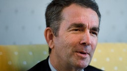 Ralph Northam talks about how he was raised during an interview in the Governor's Mansion February 09, 2019 in Richmond, VA.