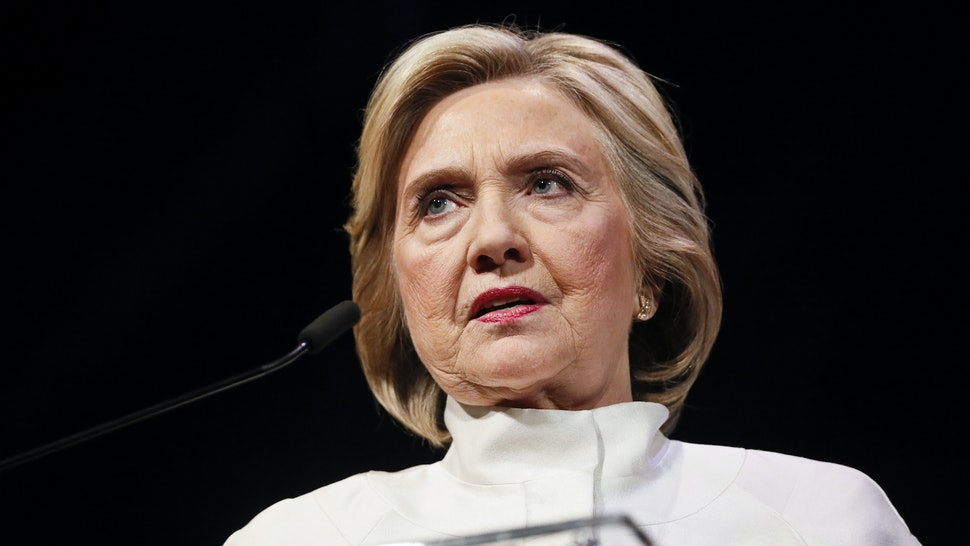 Former Secretary of State Hillary Clinton speaks at the 18th annual Vital Voices Global Leadership Awards at The Kennedy Center on April 24, 2019 in Washington, DC.