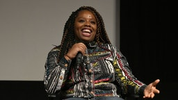 """Patrisse Cullors participates in a panel discussion after the Los Angeles premiere of """"Toni Morrison: The Pieces I Am"""" on June 14, 2019 in West Hollywood, California."""