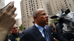 Celebrity attorney Michael Avenatti walks out of a New York court house after pleading not guilty Tuesday in federal court in a case where he is accused of stealing $300,000 from a former client, adult-film actress Stormy Daniels. on May 28, 2019 in New York City. A grand jury has indicted Avenatti for the Daniels-related case and a second case in which prosecutors say he attempted to extort more than $20 million from sportswear giant Nike.
