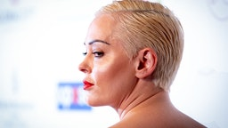 Actress Rose McGowan attends the Global Gift Gala 2019 at Four Seasons Hotel George V on June 03, 2019 in Paris, France.