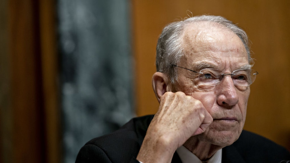 Senator Chuck Grassley, a Republican from Iowa and chairman of the Senate Finance Committee, listens during a hearing in Washington, D.C., U.S., on Tuesday, July 30, 2019. Grassley praised negotiations between House Democrats and U.S. Trade Representative Robert Lighthizer to build support for the U.S.-Mexico-Canada agreement, President Donald Trump's proposed overhaul of the Nafta trade deal.