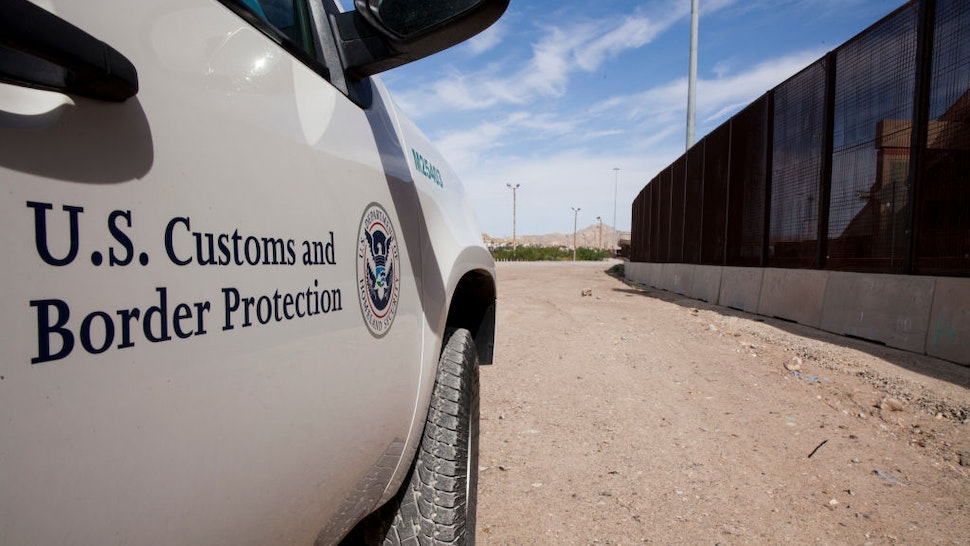 A Customs and Border Protection vehicle patrols the border fence in El Paso, Texas on Aug. 23, 2019.