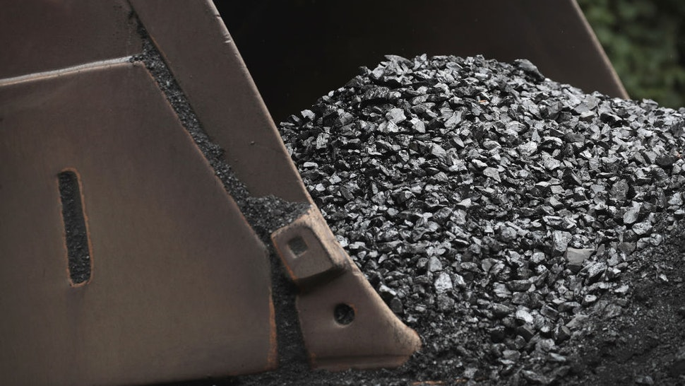 Coal is prepared for shipping at mine on August 26, 2019 near Cumberland, Kentucky.