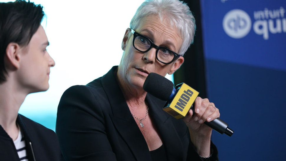 Actors Jaeden Martell and Jamie Lee Curtis of 'Knives Out' attend The IMDb Studio Presented By Intuit QuickBooks at Toronto 2019 at Bisha Hotel & Residences on September 08, 2019 in Toronto, Canada.