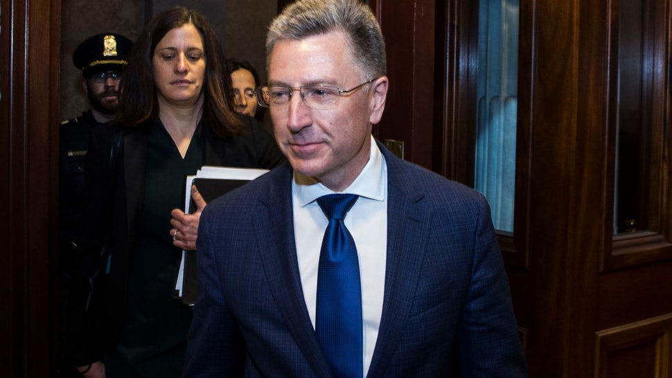 Former Special Envoy to Ukraine Kurt Volker departs following a closed-door deposition led by the House Intelligence Committee on Capitol Hill on October 3, 2019 in Washington, DC. Volker resigned from his position on September 27.