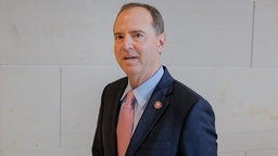 Representative Adam Schiff, a Democrat from California and chairman of the House Intelligence Committee, arrives on Capitol Hill in Washington, D.C., U.S., on Friday, Oct. 11, 2019. Marie Yovanovitch, the former U.S. ambassador to Ukraine, arrived to give a private deposition to three House committees leading the impeachment inquiry.