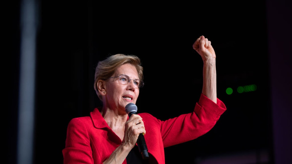 Senator Elizabeth Warren, a Democrat from Massachusetts and 2020 presidential candidate, speaks during the Second Step Presidential Justice Forum at Benedict College in Columbia, South Carolina, U.S., on Sunday, Oct. 27, 2019.