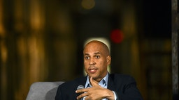 Democratic Presidential candidate, U.S. Senator Cory Booker (D-NJ) speaks during a town hall at the Eastern State Penitentiary on October 28, 2019 in Philadelphia, Pennsylvania. Formerly incarcerated individuals, their families, and others involved with the criminal justice system hosted the town hall with three 2020 Democratic presidential candidates. (Photo by Mark Makela/Getty Images)