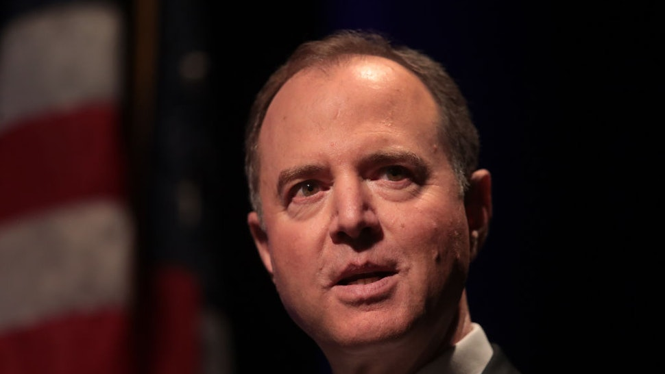 Rep. Adam Schiff (D-CA) delivers a lecture on The Threat to Liberal Democracy at Home and Abroad at Cahn Auditorium on the campus of Northwestern University on October 03, 2019 in Chicago, Illinois.