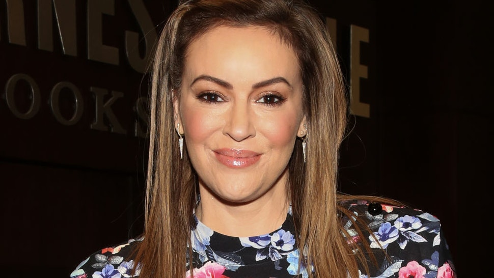 "Actress Alyssa Milano celebrates the release of her new book ""Project Middle School"" at Barnes & Noble at The Grove on October 21, 2019 in Los Angeles, California."