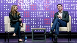 Nicolle Wallace and James Comey speak onstage during the 2019 Politicon at Music City Center on October 26, 2019 in Nashville, Tennessee.