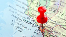 "Focus on Los Angeles on the Map. Source: ""World reference atlas"""