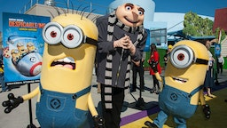 """Gru and his Minion attends Universal Studios Hollywood Celebrates The Premiere Of New 3D Ultra HD digital Animation Adventure """"Despicable Me Minion Mayhem"""" at Universal Studios Hollywood on April 11, 2014 in Universal City, California. (Photo by Valerie Macon/Getty Images)"""